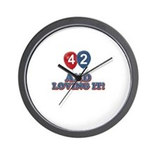 42 and loving it designs Wall Clock