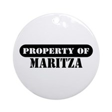 Property of Maritza Ornament (Round)