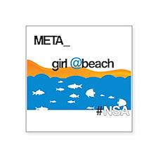 "Meta Girl Square Sticker 3"" x 3"""
