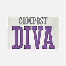 Compost DIVA Rectangle Magnet (10 pack)