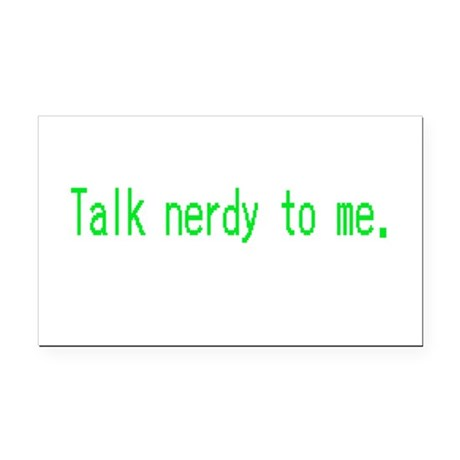 Talk Nerdy Rectangle Car Magnet