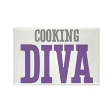 Cooking DIVA Rectangle Magnet (100 pack)