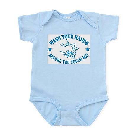 Wash Your Hands! Blue Infant Bodysuit