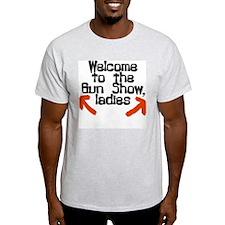 "ExpressionWear ""Gun Show"" Ash Grey T-Shirt"