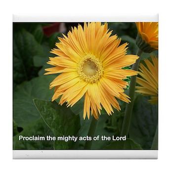 Words of Faith Tile Coaster