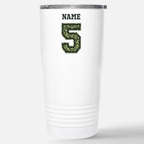 Personalized Camo 5 Travel Mug