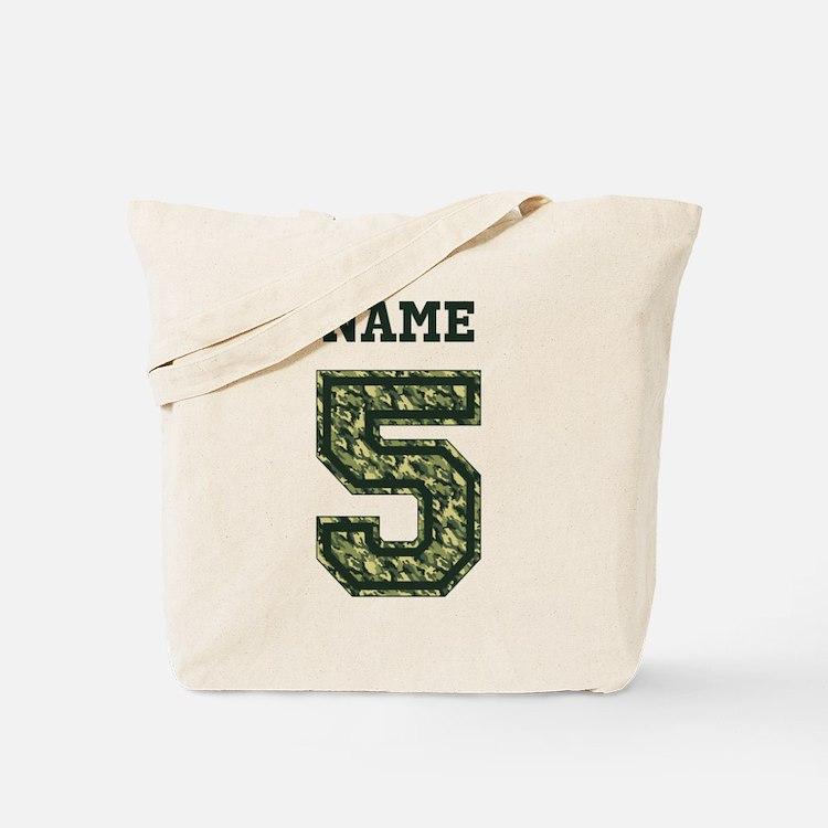 Personalized Camo 5 Tote Bag