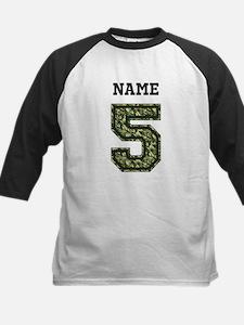 Personalized Camo 5 Baseball Jersey