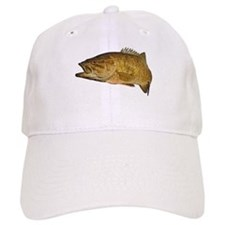 Smallmouth Bass Art Affect Baseball Cap