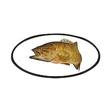 Smallmouth Bass Art Affect Patches