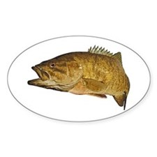 Smallmouth Bass Art Affect Decal
