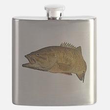 Smallmouth Bass Art Affect Flask