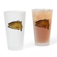 Smallmouth Bass Art Affect Drinking Glass