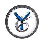 Young Six Flatline Records Wall Clock