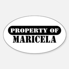 Property of Maricela Oval Decal