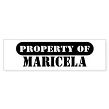 Property of Maricela Bumper Bumper Sticker