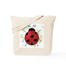 Heart Ladybug Tote Bag
