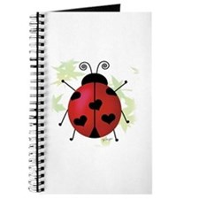 Heart Ladybug Journal