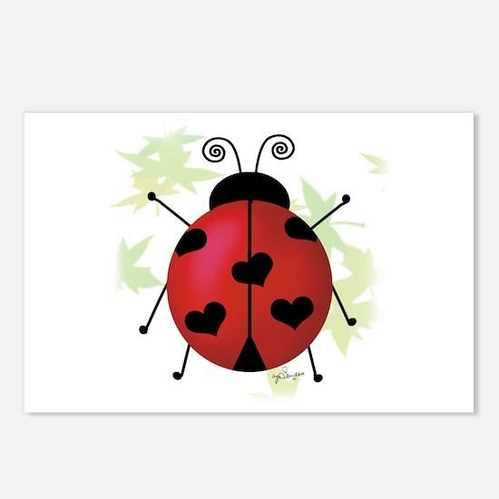 Heart Ladybug Postcards (Package of 8)