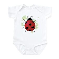 Heart Ladybug Infant Bodysuit