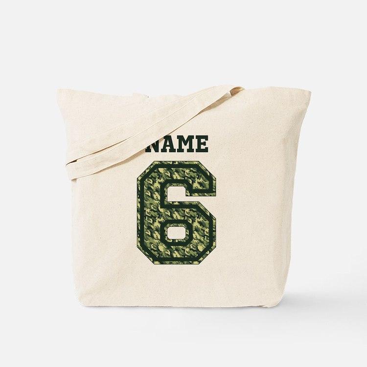 Personalized Camo 6 Tote Bag
