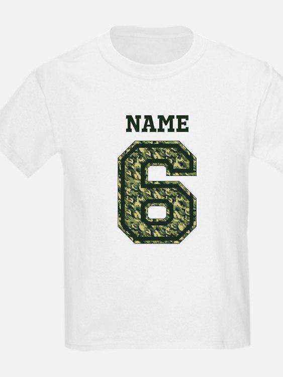6 year old birthday t shirts shirts tees custom 6 for Custom t shirts camouflage