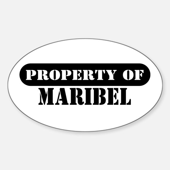 Property of Maribel Oval Decal