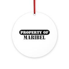 Property of Maribel Ornament (Round)