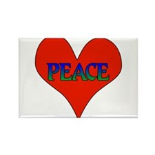 Peace In Heart Rectangle Magnet