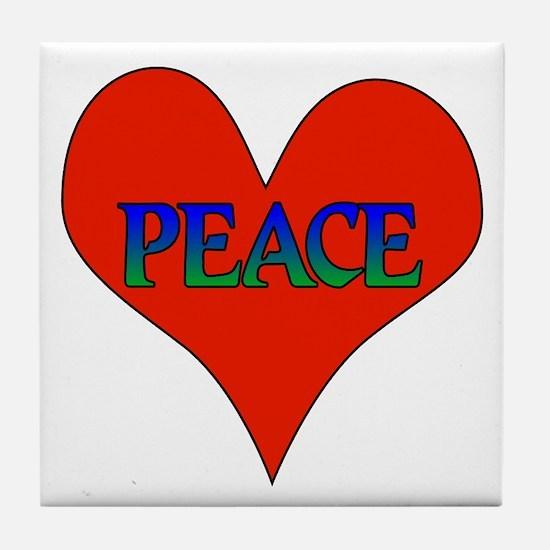 Peace In Heart Tile Coaster