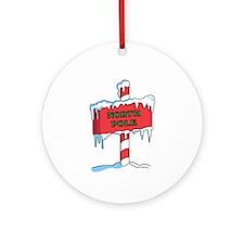 North Pole Ornament (Round)