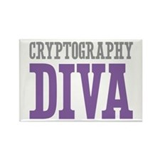 Cryptography DIVA Rectangle Magnet