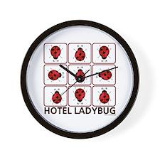 Hotel Ladybug Wall Clock