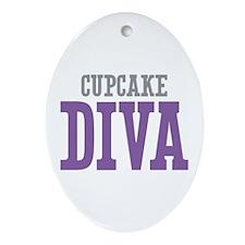 Cupcake DIVA Ornament (Oval)