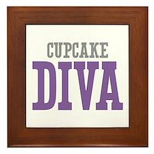 Cupcake DIVA Framed Tile
