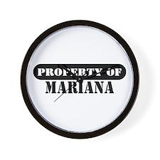 Property of Mariana Wall Clock