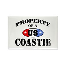 Property of a US Coastie Rectangle Magnet