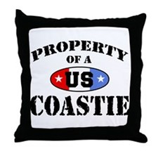 Property of a US Coastie  Throw Pillow