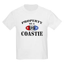 Property of a US Coastie Kids T-Shirt
