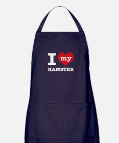 I heart Hamster designs Apron (dark)