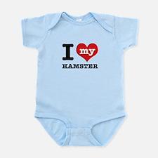 I heart Hamster designs Infant Bodysuit