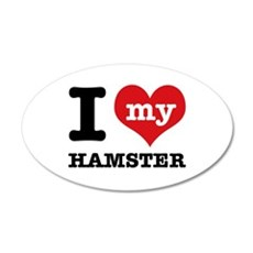 I heart Hamster designs Wall Decal