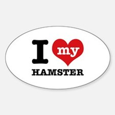 I heart Hamster designs Decal