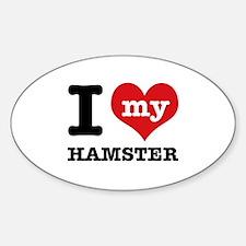 I heart Hamster designs Sticker (Oval)