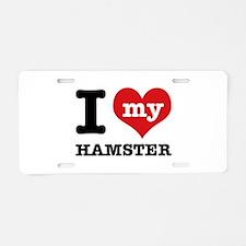 I heart Hamster designs Aluminum License Plate