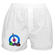 """""""Curling rocks and broom"""" Boxer Shorts"""