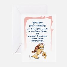 Geek Late Birthday Greeting Cards (Pk of 10)
