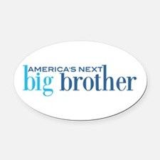 Next Big Brother Oval Car Magnet