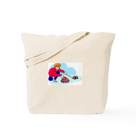 """""""Lady curler"""" Tote Bag"""