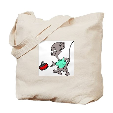 """""""Curling mouse"""" Tote Bag"""